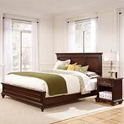 Roanoke Bed and Nightstand