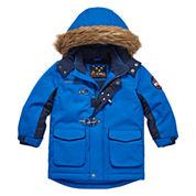 Big Chill Fur-Trim Hooded Jacket - Boys 8-18