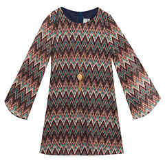 Lilt Long Sleeve Shift Dress - Preschool Girls