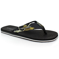 Realtree Bay Mens Flip-Flops