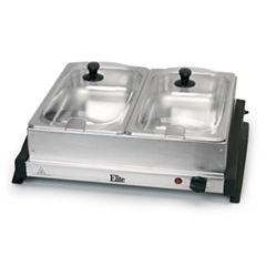 Elite Gourmet EWM-6122 Dual Tray Buffet Server