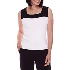Sag Harbor® Modern Geo Sleeveless Sweater Shell