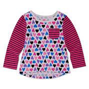 Okie Dokie® Long-Sleeve Print Tee - Baby Girls newborn-24m