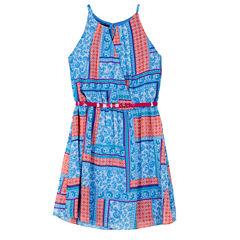 by&by girl Sleeveless Swing Dresses-Big Kid Girls