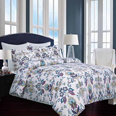 Tribeca Living Abstract Paisley Flannel 3-pc. Duvet Cover Set