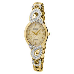 Seiko Womens Gold Tone Bracelet Watch-Sup342