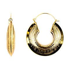 Decree?Tribal-Design Hoop Earrings