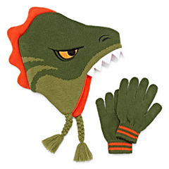 Dino Hat & Glove Set - Boys 8-20