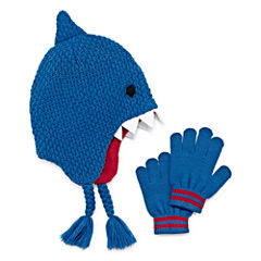 Shark Hat & Gloves Set - Preschool Boys 4-7