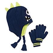 One Eyed Monster Hat & Gloves Set - Preschool Boys 4-7