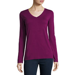 Stylus Long-Sleeve V-Neck T-Shirt