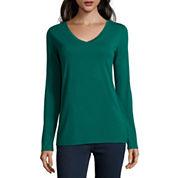 Stylus™ Long-Sleeve V-Neck T-Shirt