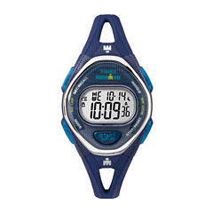 Timex Ironman Sleek 50 Mid-Size Womens Blue Strap Watch-Tw5m136009j
