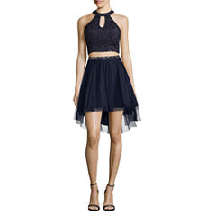 My Michelle Sleeveless Embellished Party Dress-Juniors
