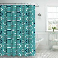 Terrell with 12 Metal Rings Shower Curtain Set