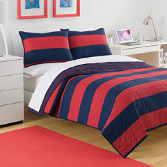 IZOD® Nottingham Stripe Quilt & Accessories