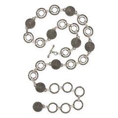 Mixit™ Silver-Tone Circle Chain Belt