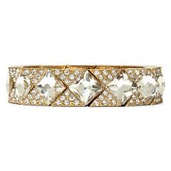 Natasha Crystal Gold-Tone Stretch Bracelet