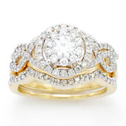 LIMITED QUANTITIES! 1 1/4 CT. T.W. White Diamond 14K Gold Cocktail Ring