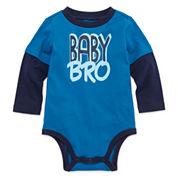 Okie Dokie® Long-Sleeve Doubler Bodysuit - Baby Boys newborn-24m