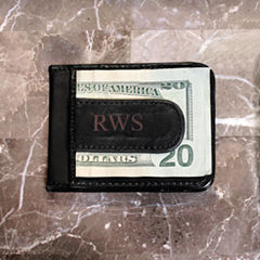 Personalized Genuine Leather Money Clip