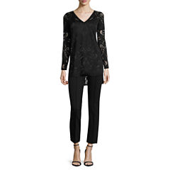 nicole by Nicole Miller® Burnout Top or Ankle Pants