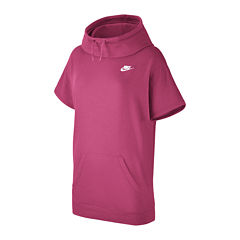 Nike® Short-Sleeve Fleece Hoodie