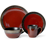 Gourmet Basics by Mikasa® Calder Red 16-pc. Dinnerware Set