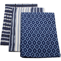 Indigo Set of 3 Kitchen Towels
