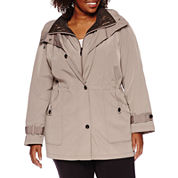 Miss Gallery® Anorak Stadium Coat - Plus