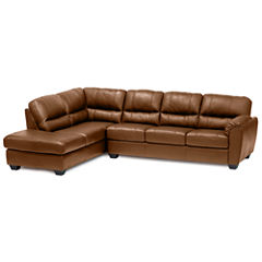 Leather Possibilities 2-pc. Left- Arm Corner Chaise/Sofa Sectional