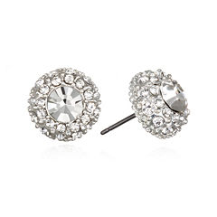 Mixit™ Crystal Silver-Tone Stud Earrings