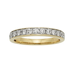 1/2 CT. T.W. Certified Diamond Single-Row Yellow Gold Wedding Band