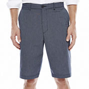 Claiborne® Flat-Front Cotton Shorts