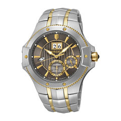 Seiko® Coutura Mens Two-Tone Stainless Steel Kinetic Watch SNP108
