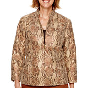 Alfred Dunner® Colorado Springs 3/4-Sleeve Python Print Jacket - Petite