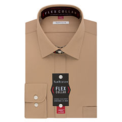 Van Heusen Long-Sleeve Pincord Flex Collar Dress Shirts