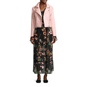 BELLE + SKY™ Pleather Moto Jacket or Long-Sleeve Floral Maxi Dress