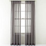 Royal Velvet® Crushed Voile Rod-Pocket Sheer Curtain Panel