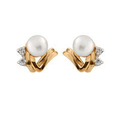 Diamond Accent Round White Diamond 14K Gold Stud Earrings
