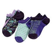Nike® 3-pk. Graphic No-Show Socks - Girls