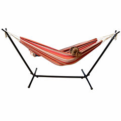 Mano Patio Hammock with Stand-Oasis stripes