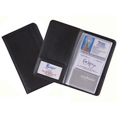 Royce Leather Leather 72-Card File Business Card Holder