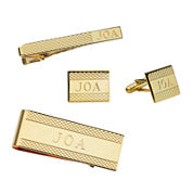 Personalized Cornwall Pattern Cuff Links, Tie Bar, or Money Clip