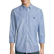 U.S. Polo Assn.® Long-Sleeve Patterned Poplin Sport Shirt