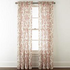 Royal Velvet Sirente Sheer Rod-Pocket Curtain Panel