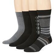 Van Heusen® Mens 4-pk. Traveler Performance Dress Crew Socks
