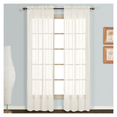 United Curtain Co. Monte Carlo Rod-Pocket 2-Pack Curtain Panels
