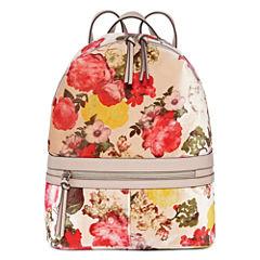 T-Shirt & Jeans Floral Velvet Backpack