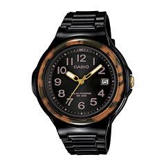 Casio® Womens Brown Bezel Black Strap Solar Sport Watch LXS700H-1BV